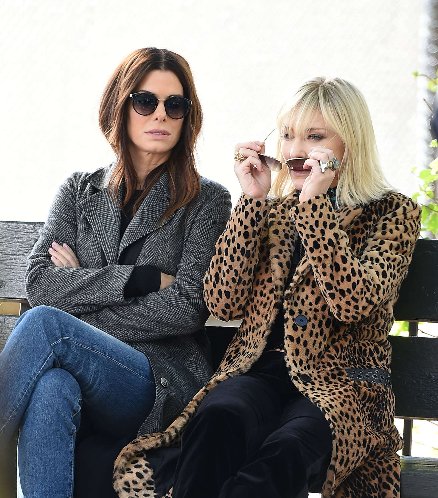 Sandra Bullock and Cate Blanchett filming 'Ocean's 8' in NYC