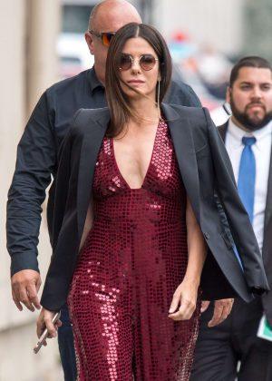Sandra Bullock - Arriving at Jimmy Kimmel Live! in LA