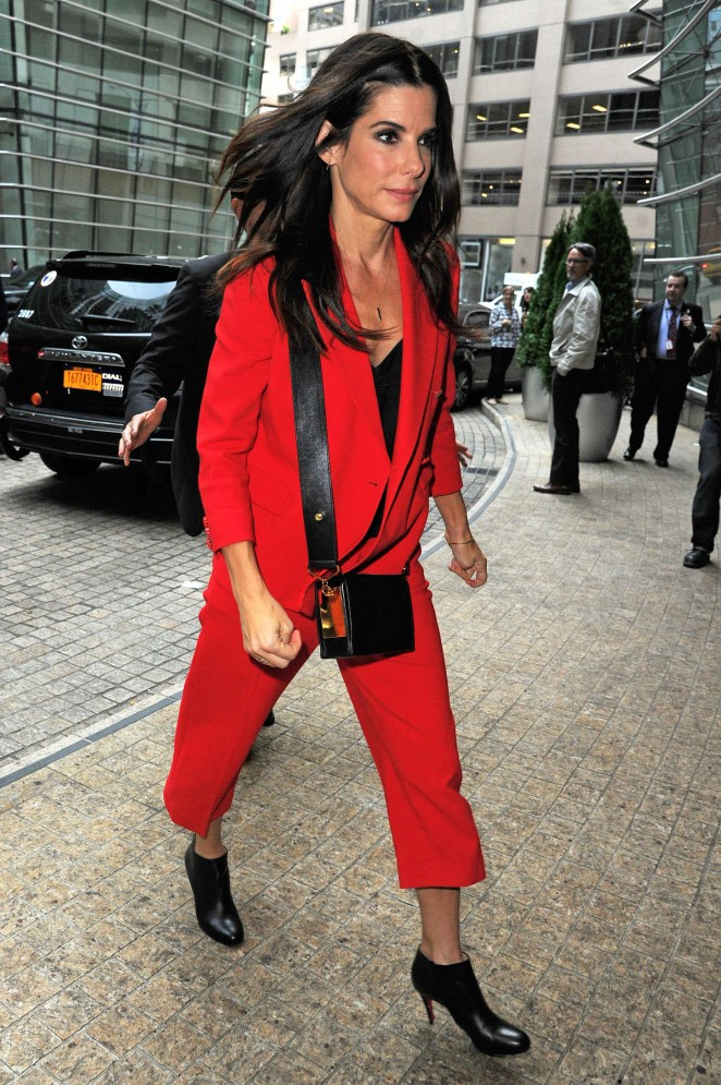 Sandra Bullock at the office building in Midtown