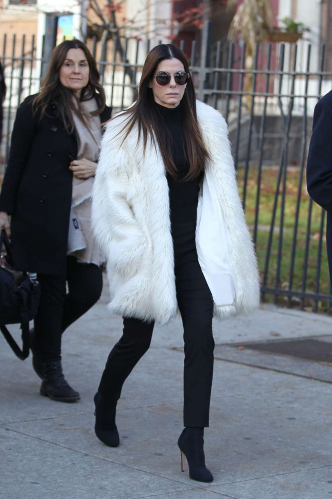 Sandra Bullock - Filming 'Ocean's Eight' Set in New York City