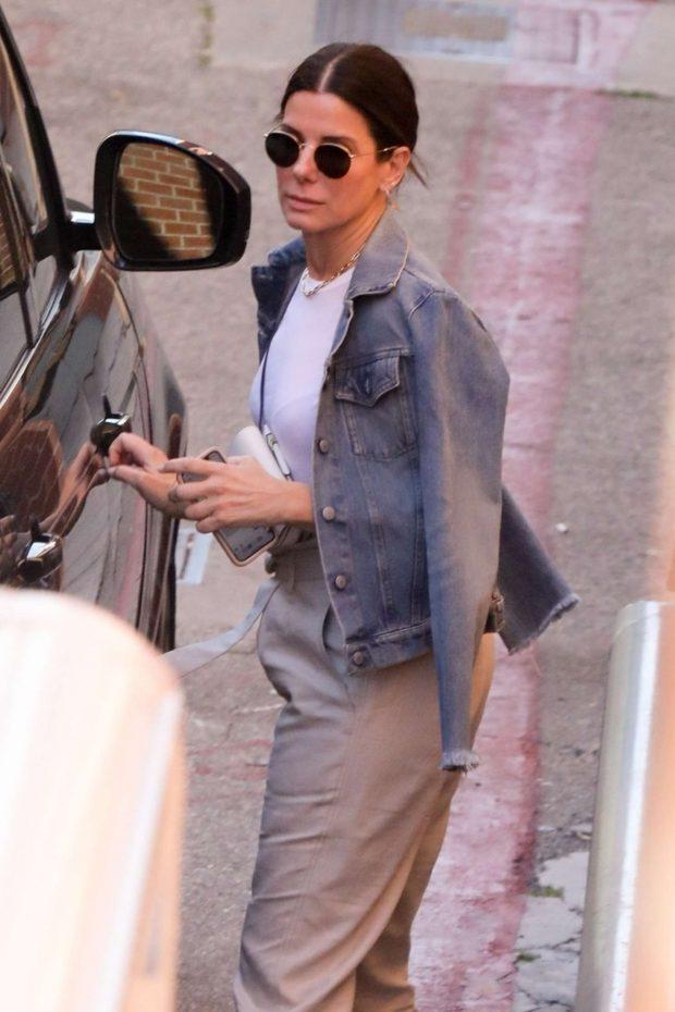 Sandra Bullock - Leaves her dentist office in Beverly Hills