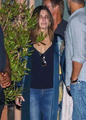 Sandra Bullock - Leaving Soho House with her boyfriend in LA