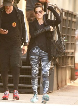Sandra Bullock - Leaving the gym in New York City
