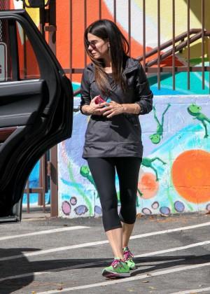 Sandra Bullock in Tight Leggings Out in LA