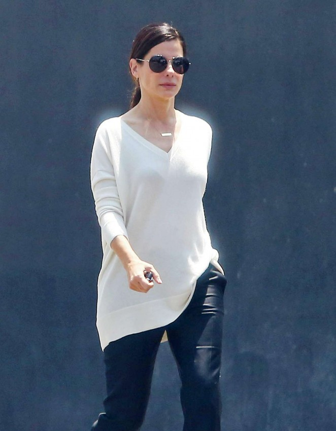 Sandra Bullock out in Los Angeles