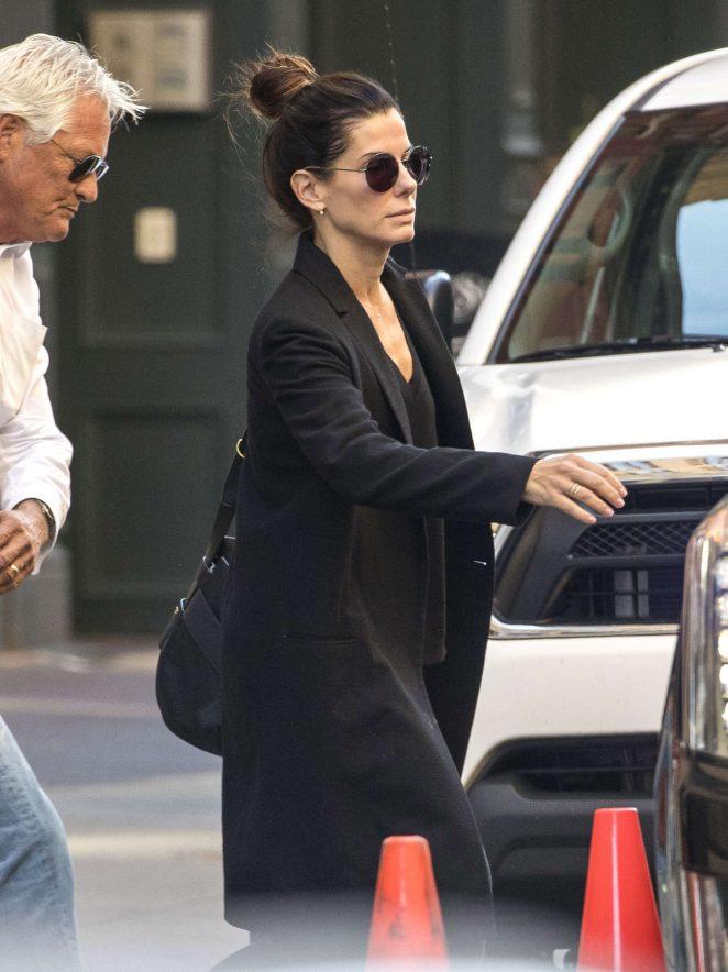 Sandra Bullock out in Manhattan