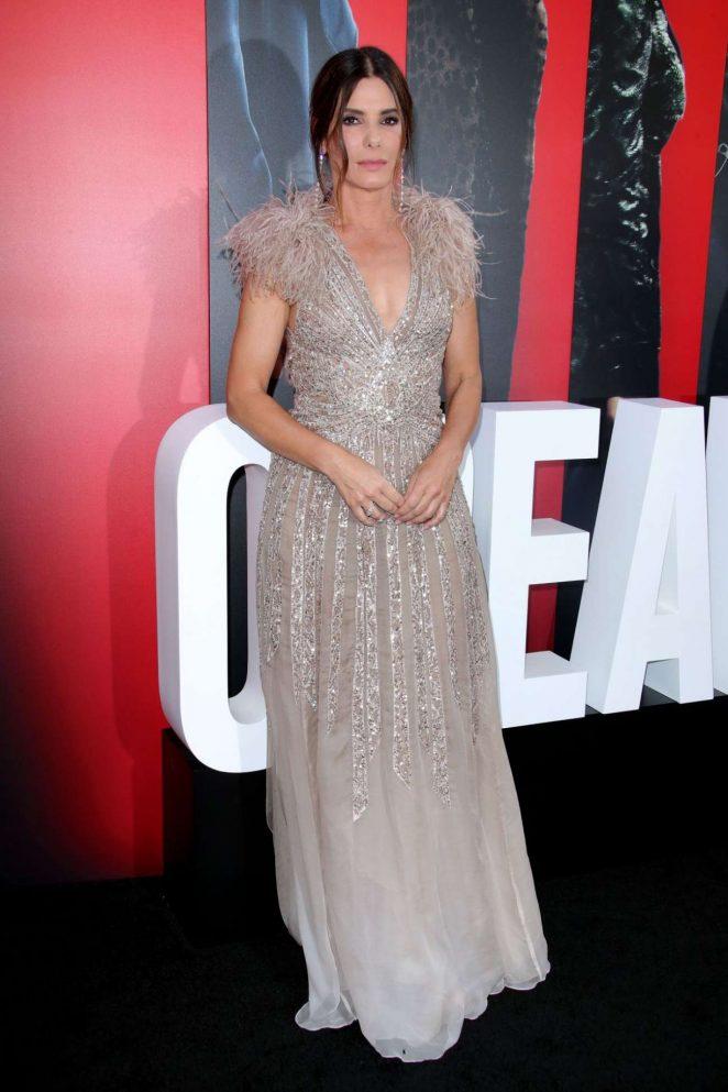 Sandra Bullock - Pictured at Ocean's 8 Premiere In New York