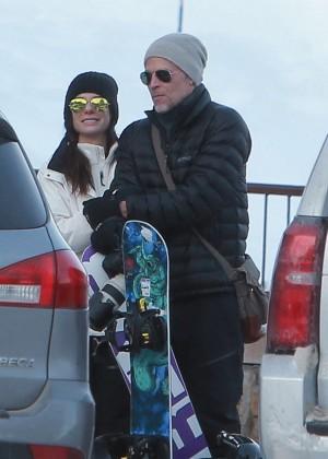 Sandra Bullock With new boyfriend Bryan Randall at the Jackson Hole Wyoming Ski Resort