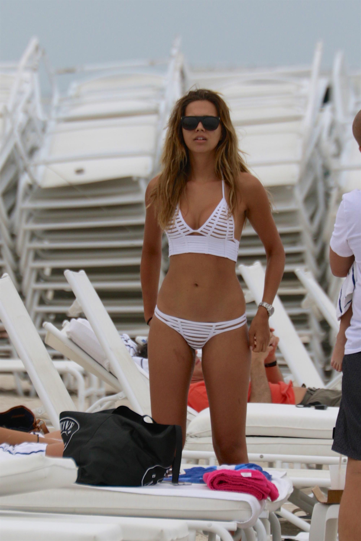 white bikini model sandra