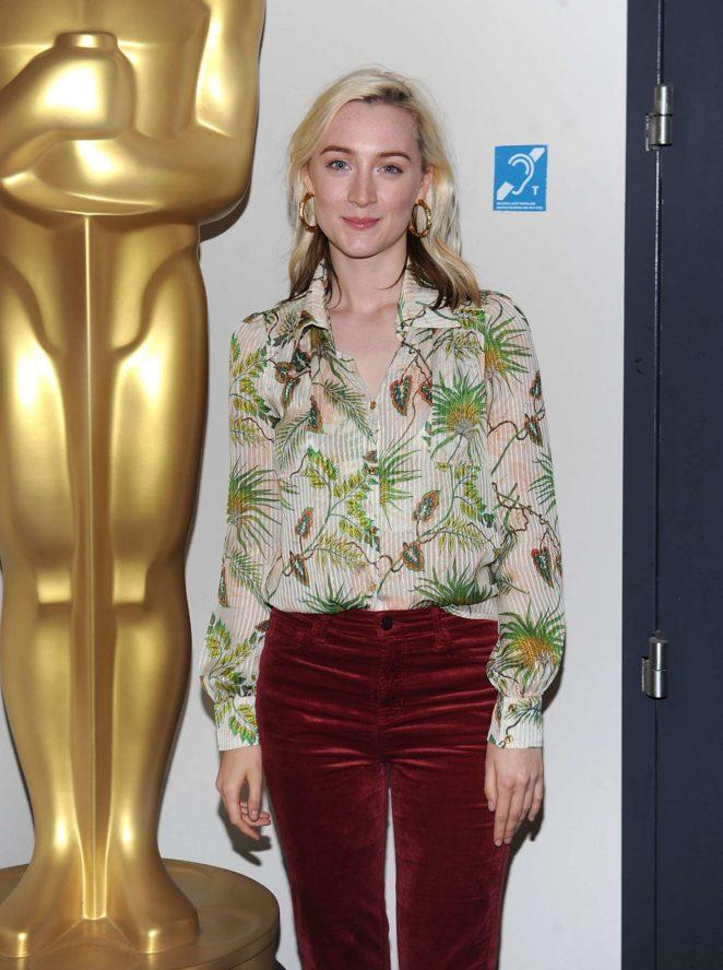 Saoirse Ronan - Academy screening of 'Lady Bird' in New York City
