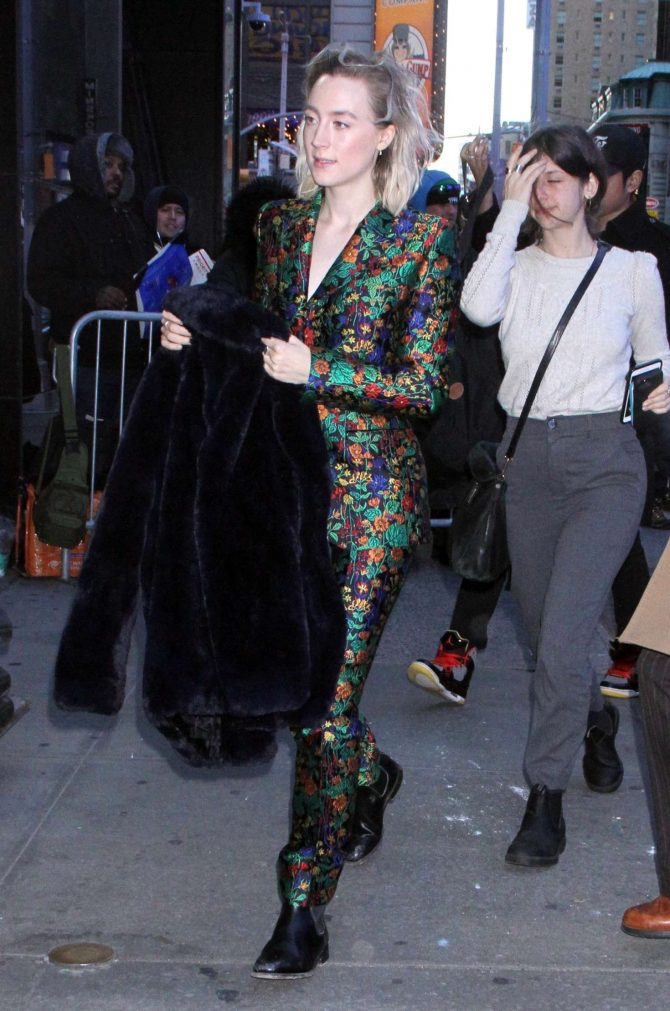 Saoirse Ronan - Arrives at 'Good Morning America' in NYC