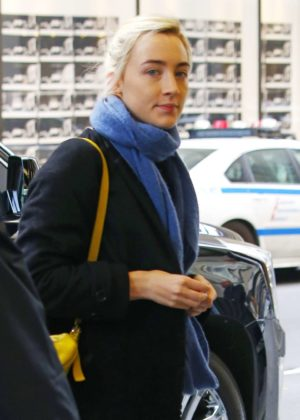 Saoirse Ronan - Arrives for 'Saturday Night Live' rehearsals in NYC