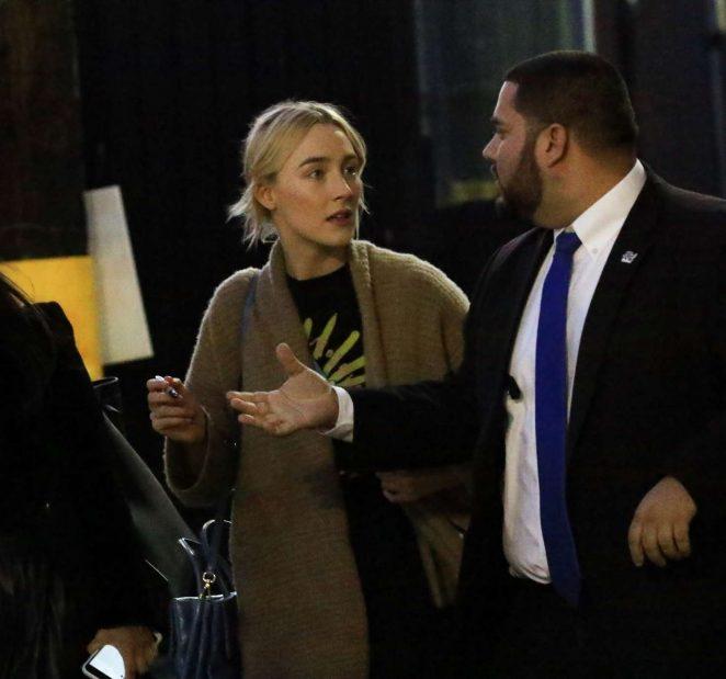 Saoirse Ronan 2018 : Saoirse Ronan: Arriving at Jimmy Kimmel Live -03