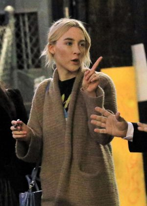 Saoirse Ronan - Arriving at Jimmy Kimmel Live! in LA