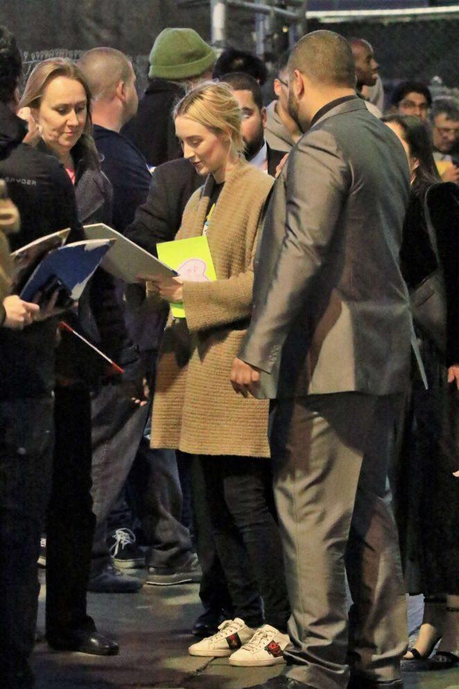 Saoirse Ronan: Arriving at Jimmy Kimmel Live -06