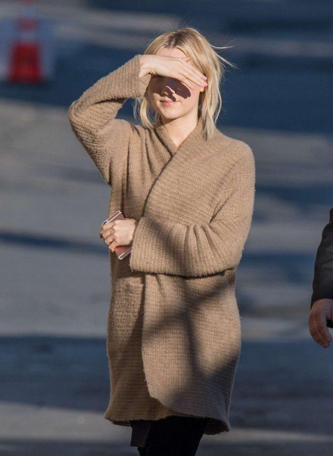 Saoirse Ronan: Arriving at Jimmy Kimmel Live -07