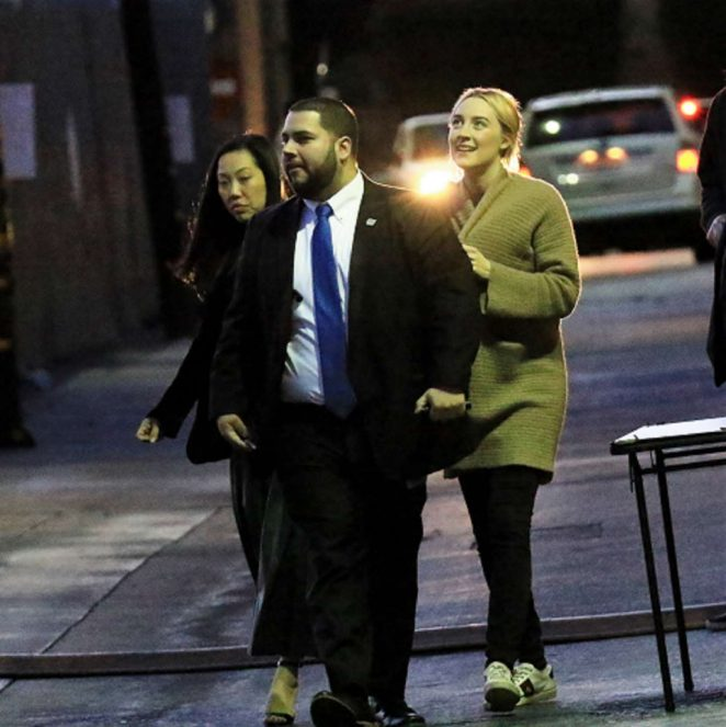 Saoirse Ronan: Arriving at Jimmy Kimmel Live -12