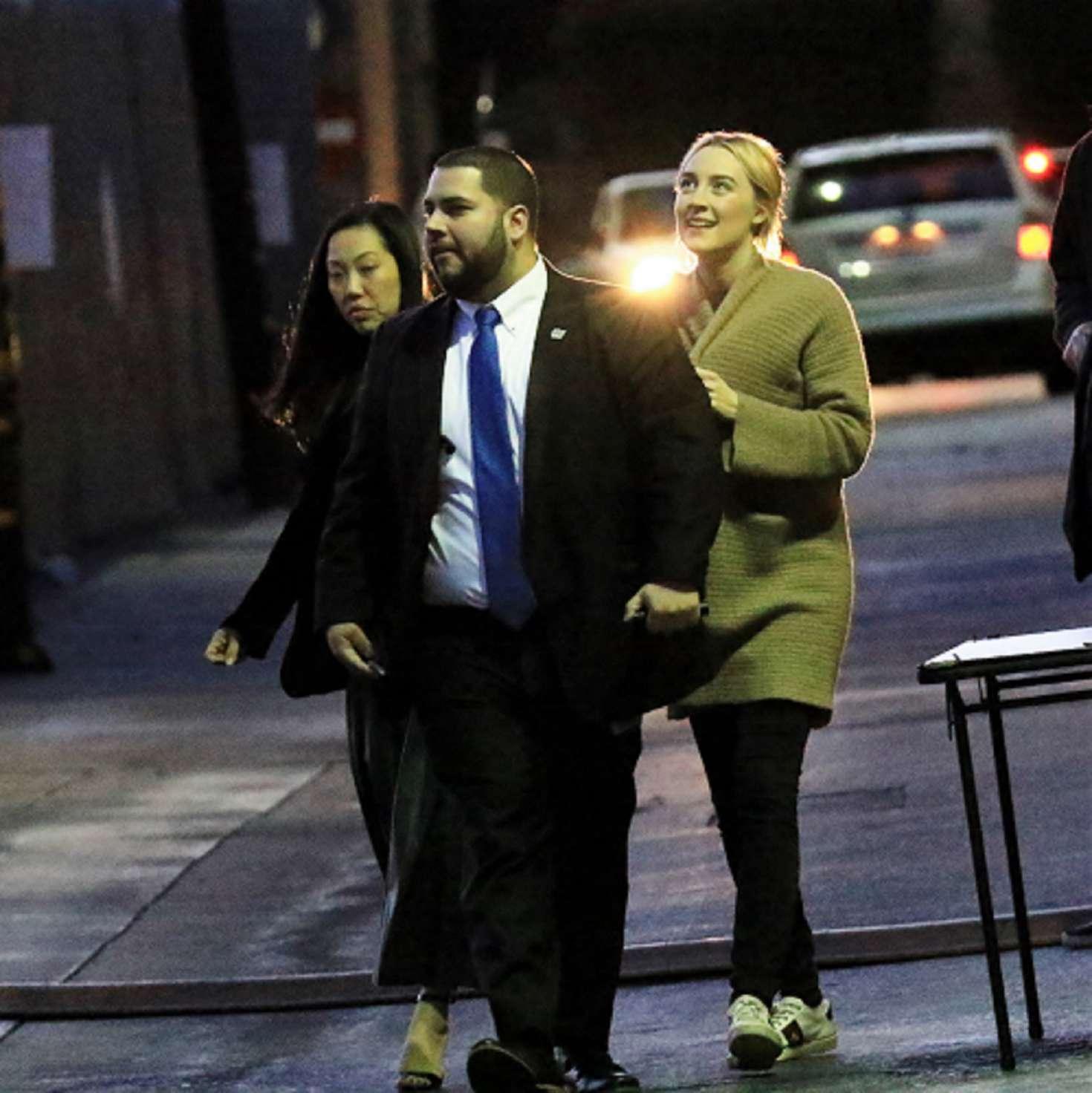 Saoirse Ronan 2018 : Saoirse Ronan: Arriving at Jimmy Kimmel Live -12