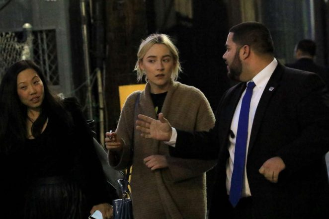 Saoirse Ronan: Arriving at Jimmy Kimmel Live -14