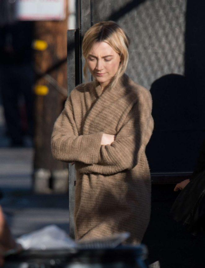 Saoirse Ronan: Arriving at Jimmy Kimmel Live -15