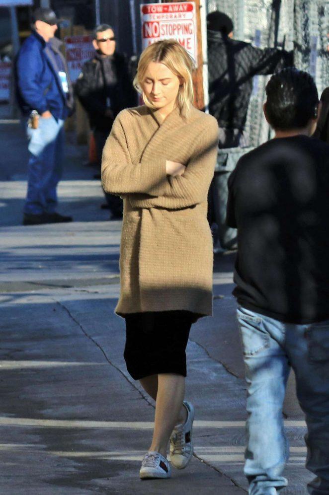 Saoirse Ronan 2018 : Saoirse Ronan: Arriving at Jimmy Kimmel Live -17