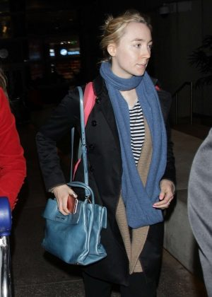 Saoirse Ronan - Arriving at LAX Airport in Los Angeles