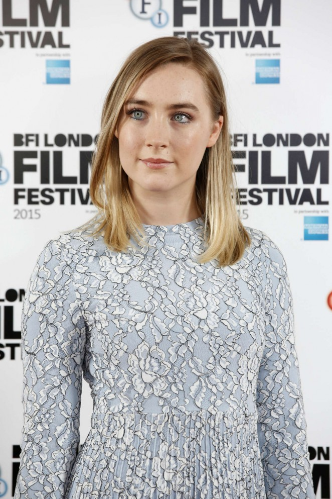 Saoirse Ronan - 'Brooklyn' Photocall during the BFI London Film Festival in London