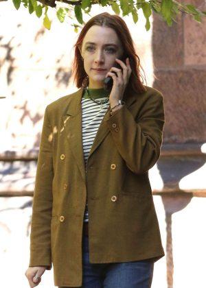 Saoirse Ronan - Filming 'Lady Bird' in New York