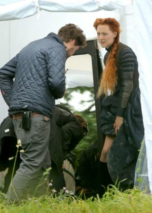 Saoirse Ronan - Filming Mary Queen Of Scots in London