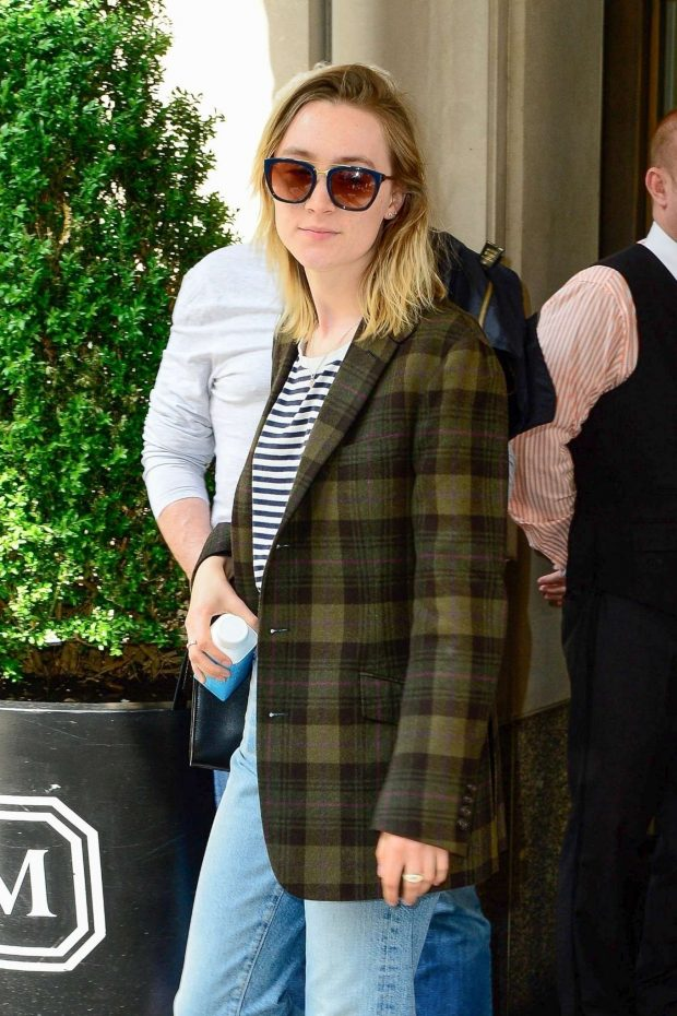 Saoirse Ronan - Leaving her hotel in NYC