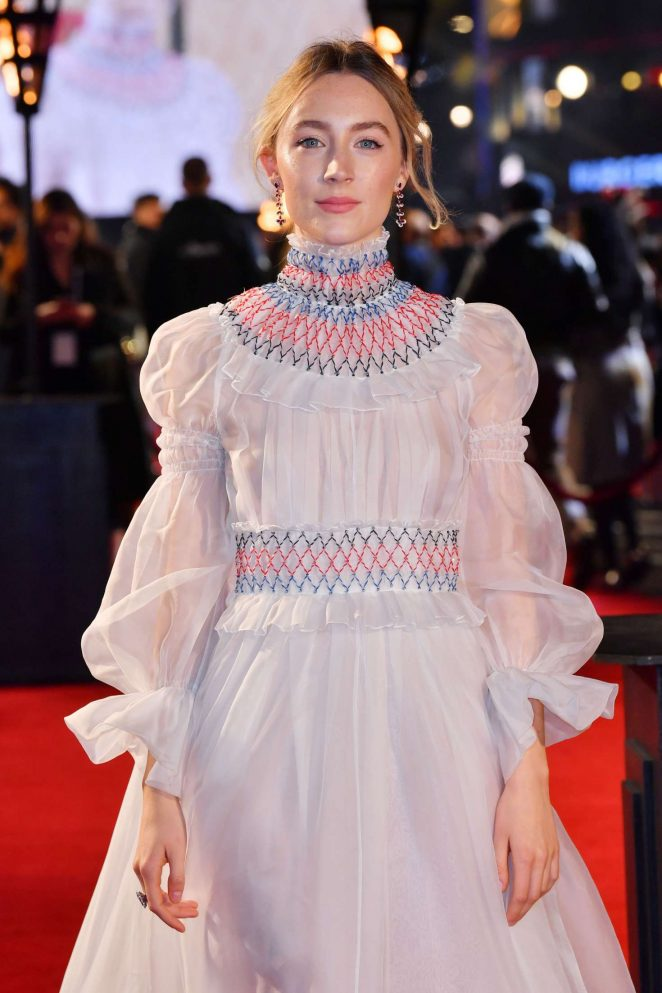 Saoirse Ronan - 'Mary Queen of Scots' Premiere in London