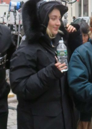 Saoirse Ronan on the set in New York City