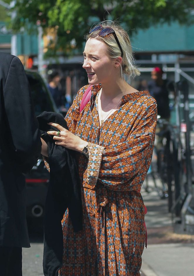 Saoirse Ronan out in New York City