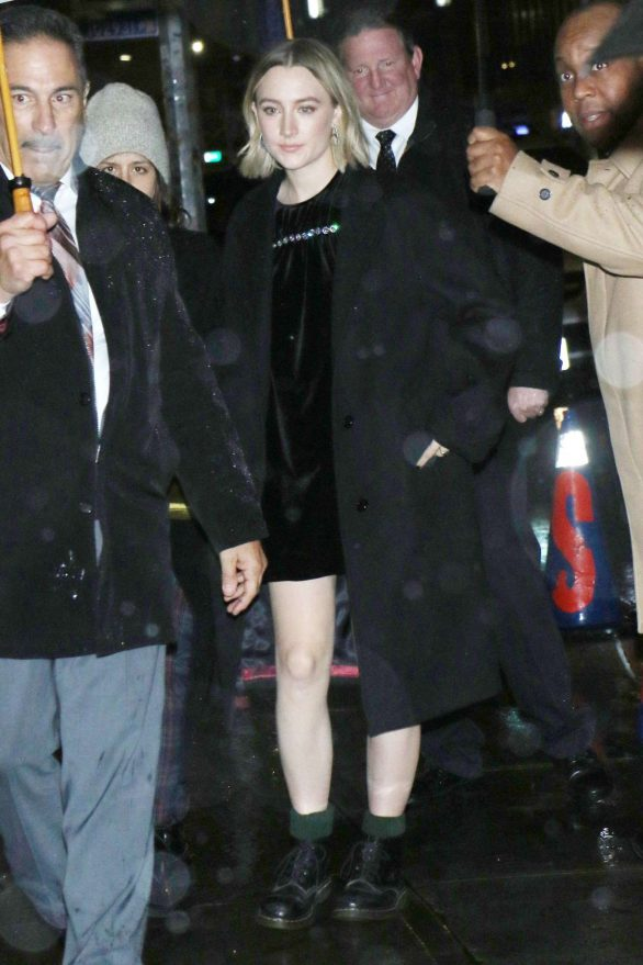 Saoirse Ronan - Seen while night out in New York