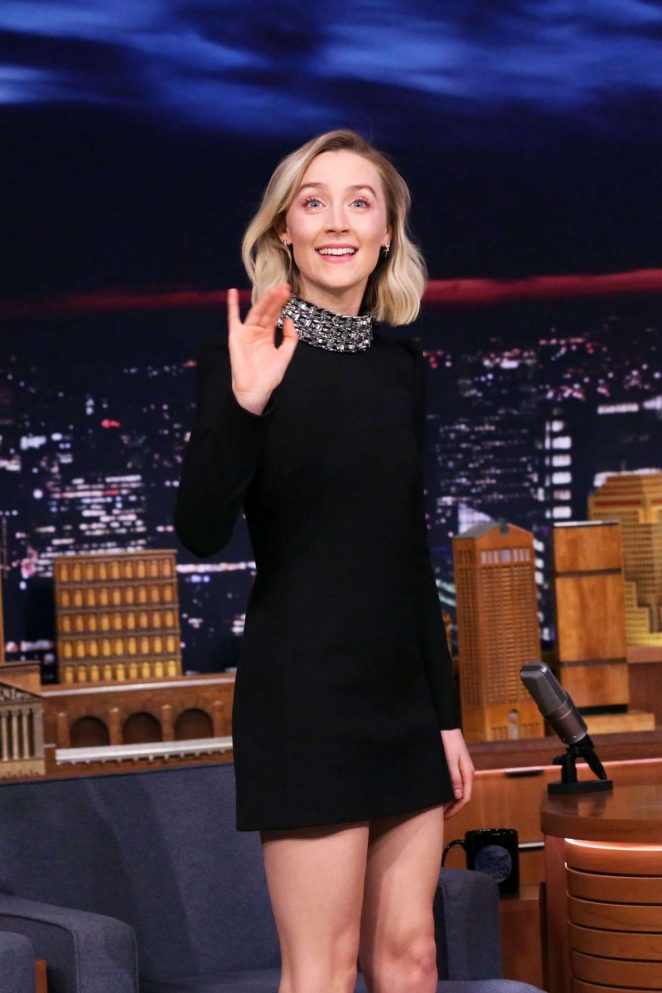 Saoirse Ronan - 'The Tonight Show Starring Jimmy Fallon' in NYC