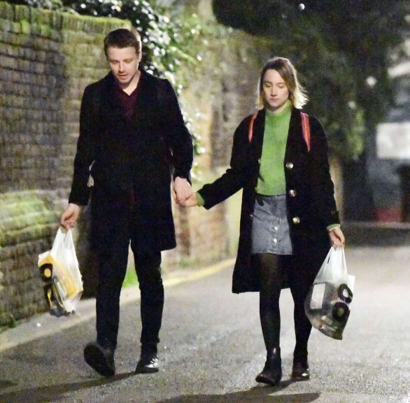 Saoirse Ronan with Jack Lowden out in London