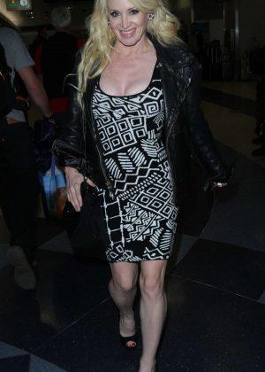 Sara Barrett - Arrives at Los Angeles International Airport