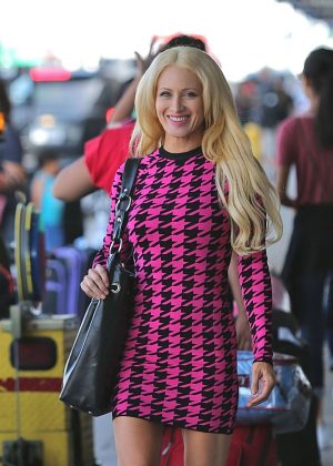 Sara Barrett at LAX airport in Los Angeles