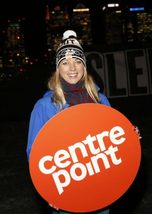 Sara Cox - Centrepoint Sleepout 2016 in London