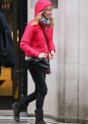 Sara Cox - Leaving BBC Radio 2 Studios in London