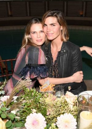 Sara Foster and Kelly Sawyer - Tabitha Simmons by Jennifer Aniston dinner Sunset Tower in West Hollywood