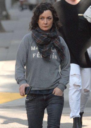 Sara Gilbert - Shopping in Beverly Hills