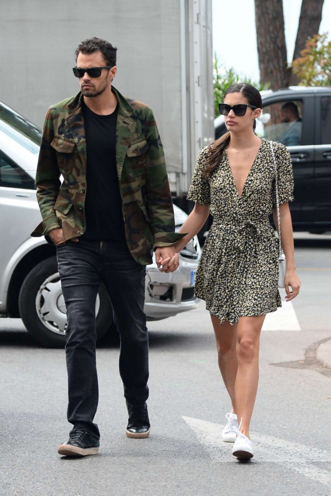 Sara Sampaio and boyfriend Oliver Ripley out in Cannes