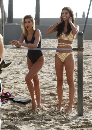 Sara Sampaio and Hailey Baldwin - Tommy Hilfiger Photoshoot in Venice