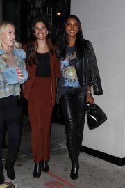 Sara Sampaio and Jasmine Tookes - Leaving dinner at Catch with their friends in West Hollywood