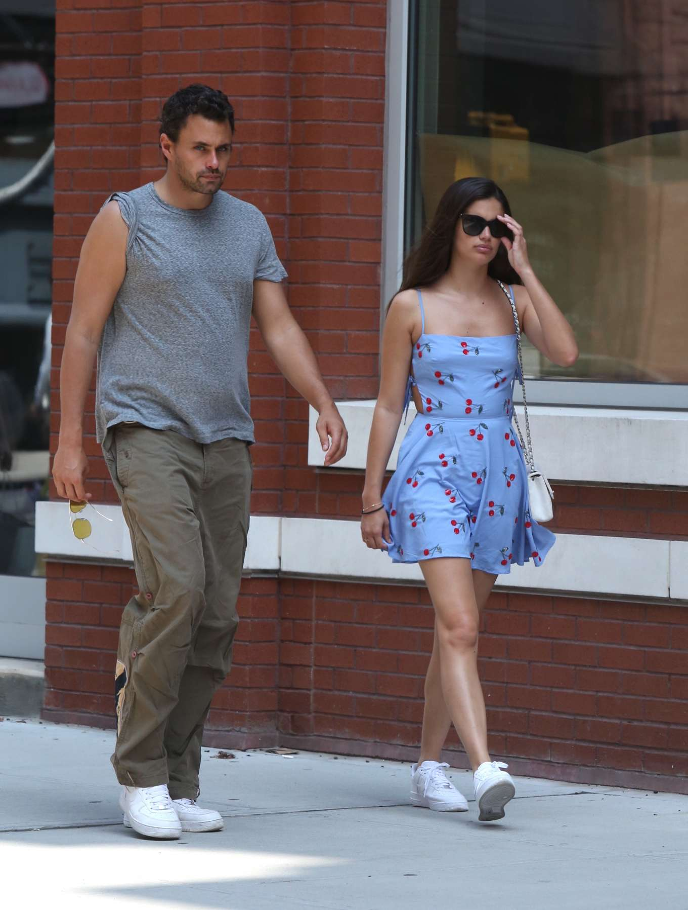 Sara Sampaio and Oliver Ripley - Out and about in New York