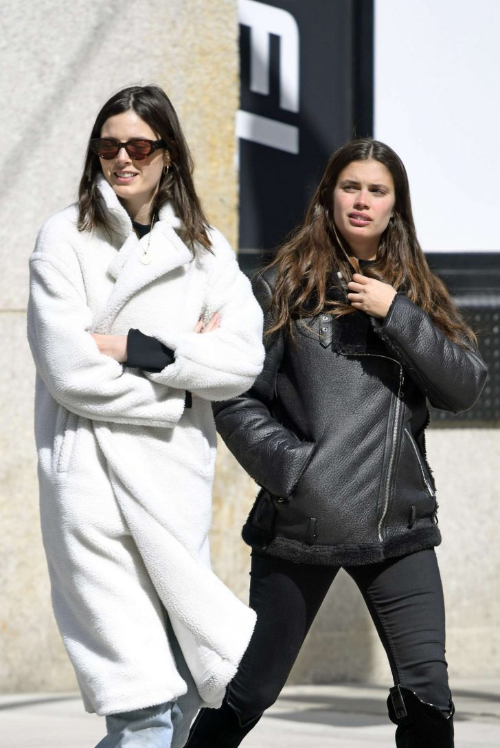 Sara Sampaio and Sadie Newman - Leaving the Dogpound gym in New York City