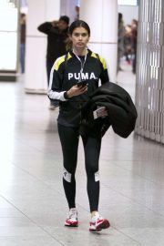 Sara Sampaio - Arrives at Airport in Montreal