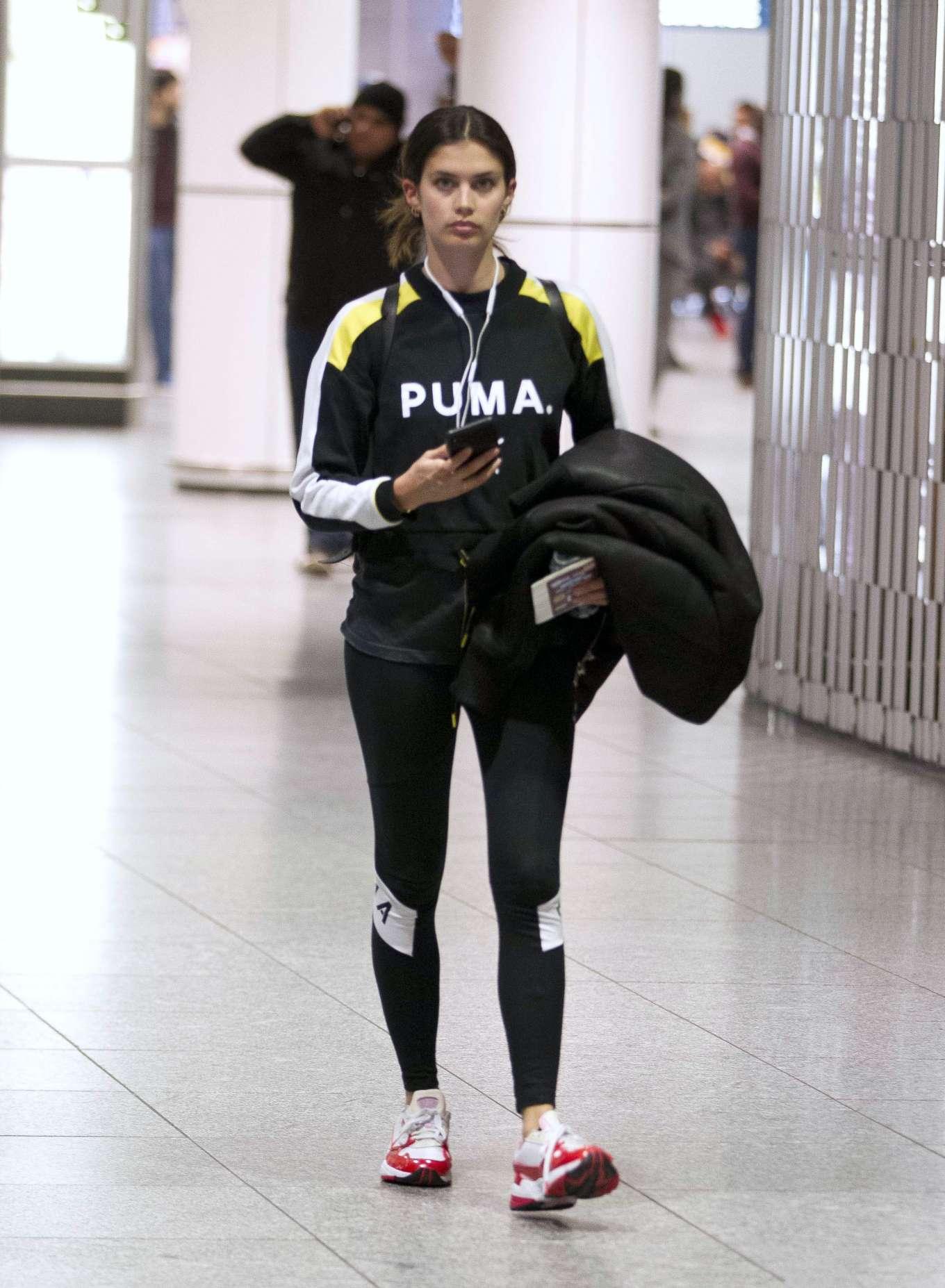 Sara Sampaio - Arrives at Airport in Montreal