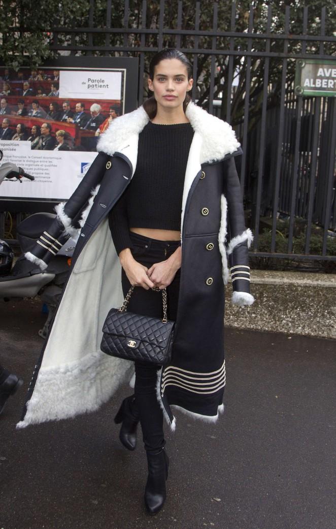 Sara Sampaio - Arrives at Miu Miu Fashion Show 2016 in Paris
